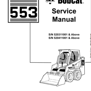 Bobcat 553 Skid-Steer Loader Service Manual