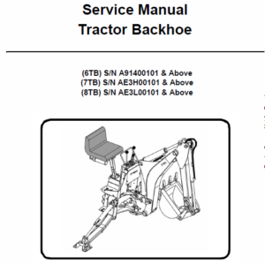 Bobcat 6TB, 7TB, 8TB Backhoe Tractor Service Manual