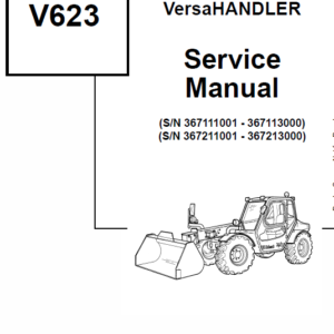 Bobcat V623 VersaHANDLER Telescopic Service Manual