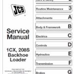 JCB 1CX, 208S Backhoe Loader Service Manual