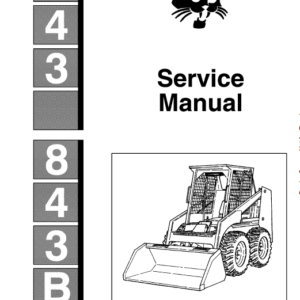 Bobcat 843 and 843B Skid-Steer Loader Service Manual