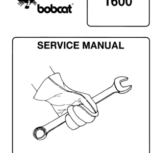 Bobcat 1600 Loader Service Manual