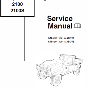 Bobcat 2100 and 2100s Utility Vehicle Manual