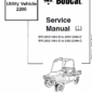 Bobcat 2200 Utility Vehicle manual