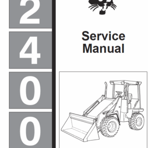 Bobcat 2400 Loader Schematics, Operating and Service Manual