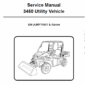 Bobcat 3450 Utility Vehicle Schematics, Operating and Service Manual