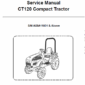 Bobcat CT120 Compact Tractor Schematics, Operating and Service Manual