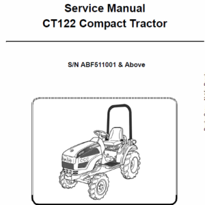 Bobcat CT122 Compact Tractor Schematics, Operating and Service Manual