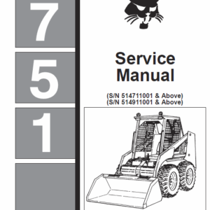 Bobcat 751 Skid-Steer Loader Service Manual