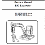 Bobcat E80 Compact Excavator Repair Service Manual