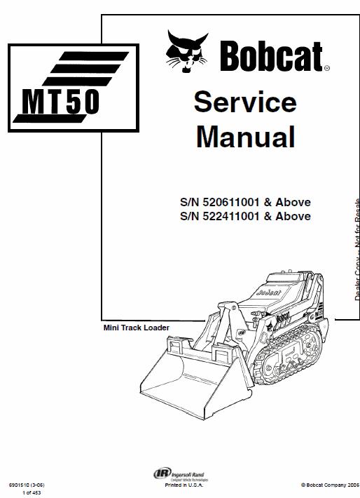 Manual for Bobcat MT50 mini loader