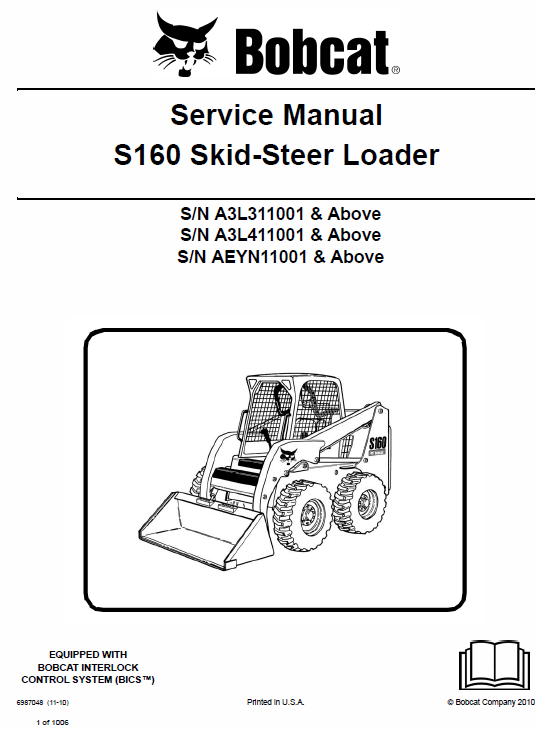 Bobcat S160 Skid-Steer Loader Service Manual
