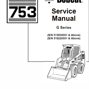 Bobcat 753 G-Series Skid-Steer Loader Manual