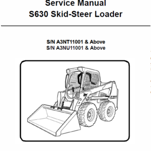 Bobcat S630 Skid-Steer Loader Service Manual