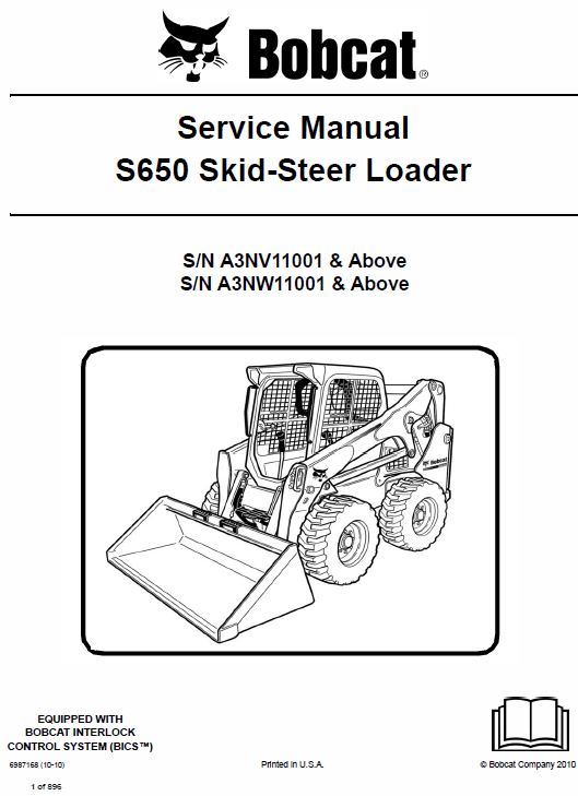 Bobcat S650 Skid-Steer Loader Service Manual
