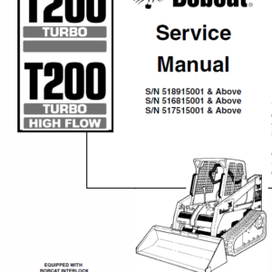 Bobcat T200 Loader Service Manual