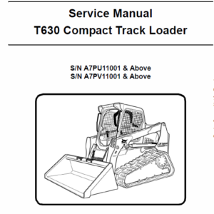 Bobcat T630 Loader Service Manual