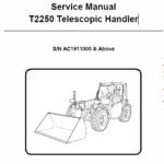 Bobcat T2250 Telescopic Handler Schematics, Operating and Service Manual