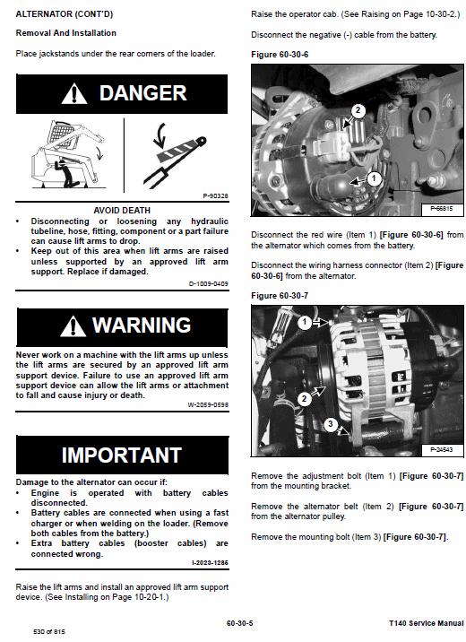 Bobcat T140 Compact Loader Service Manual