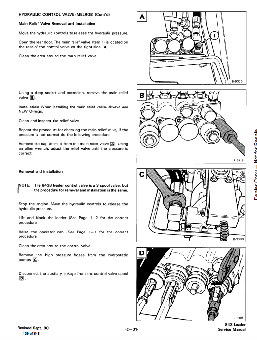 kubota bobcat 843 and 843b skid-steer loader service manual on bobcat  starter parts, kubota miller bobcat starter wiring diagram