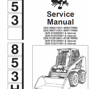 Bobcat 853 and 853H Skid-Steer Loader Service Manual