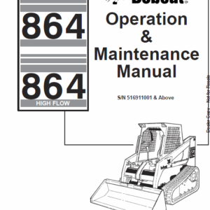Bobcat 864 and 864H Skid-Steer Loader Service Manual