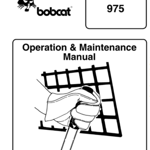 Bobcat 974 and 975 Loader Service Manual