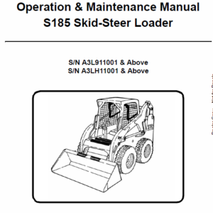 Bobcat S185 Skid-Steer Loader Service Manual