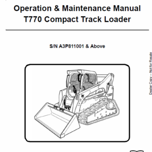 Bobcat T770 Loader Service Manual