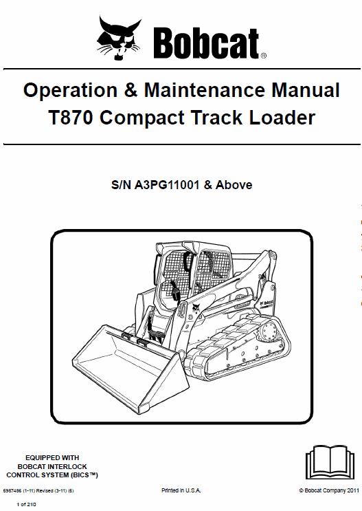 Bobcat T870 Loader Service Manual