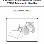 Bobcat T2250 Telescopic Handler Service Manual