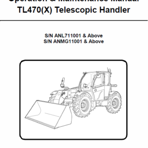 Bobcat TL470 and TL470X Telescopic Handler Service Manual