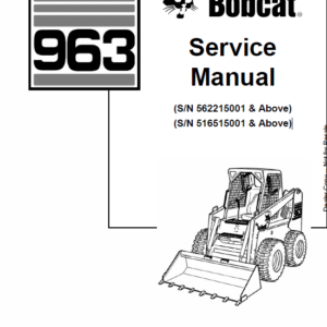 Bobcat 963 Skid-Steer Loader Service Manual
