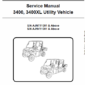 Bobcat 3400, 3400XL Utility Vehicle Schematics, Operating and Service Manual