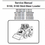 Bobcat S150 and S160 Skid-Steer Loader Schematics, Operating and Service Manual
