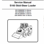 Bobcat S160 Skid-Steer Loader Schematics, Operating and Service Manual