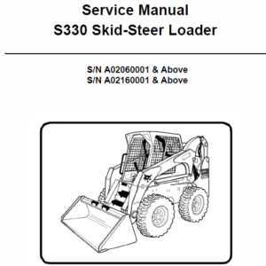 Bobcat S330 Skid-Steer Loader Service Manual
