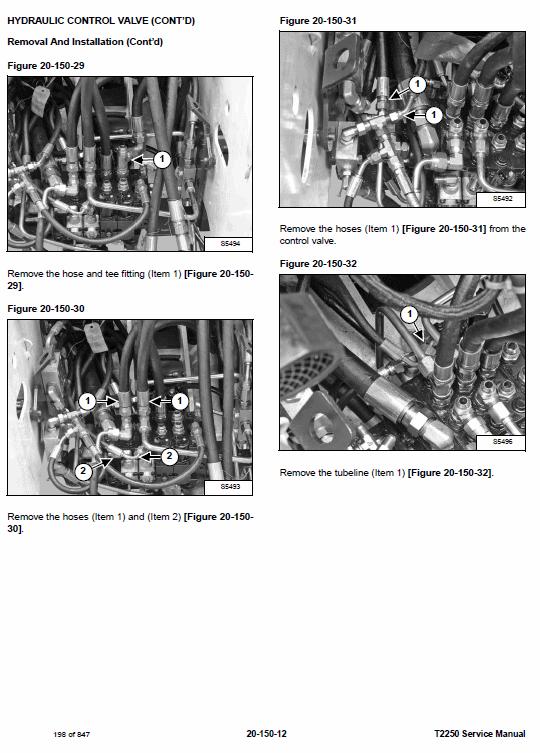 Bobcat T2250 Telescopic Handler Service Manual
