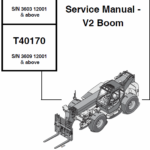 Bobcat T40140 and T40170 Telescopic Handler Service Manual