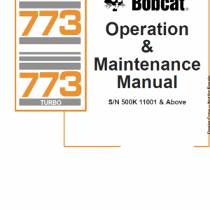 Bobcat 773 G-series Skid-Steer Loader Service Manual
