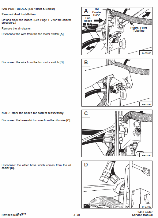 Bobcat 943 Skid-Steer Loader Service Manual