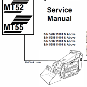 Bobcat MT52 and MT55 Mini Loader Service Manual