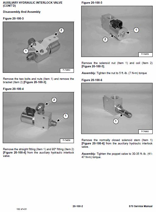 Bobcat S70 Skid-Steer Loader Service Manual