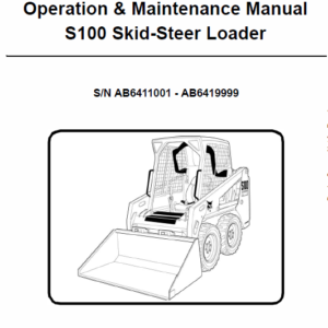 Bobcat S100 Skid-Steer Loader Service Manual