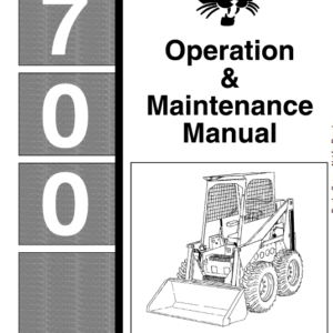 Bobcat 700, 720, 721 and 722 Skid-Steer Loader Service Manual