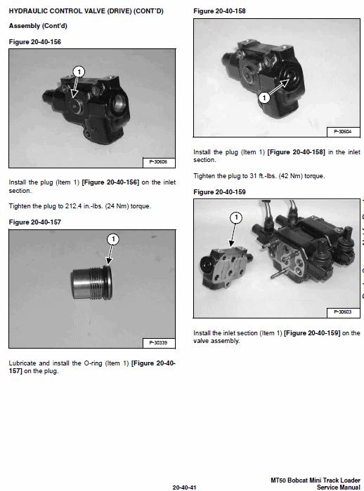 Bobcat MT50 Mini Loader Service Manual