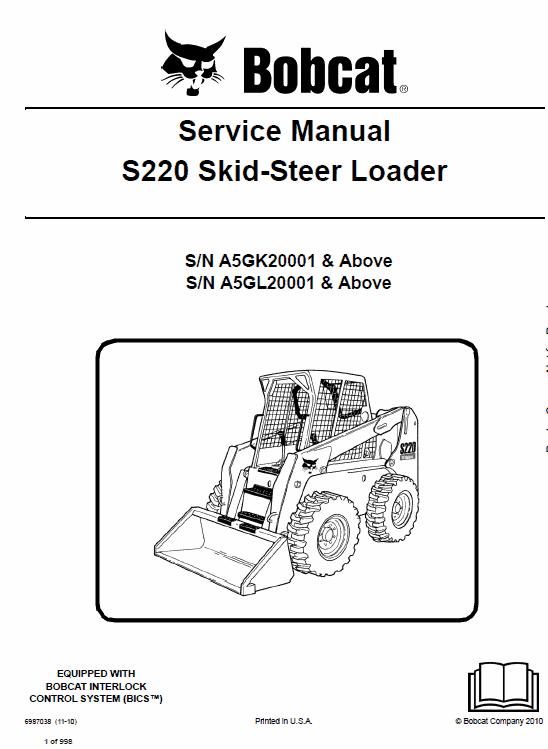 Bobcat S220 Skid-Steer Loader Service Manual