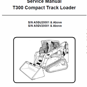 Bobcat T300 Loader Service Manual