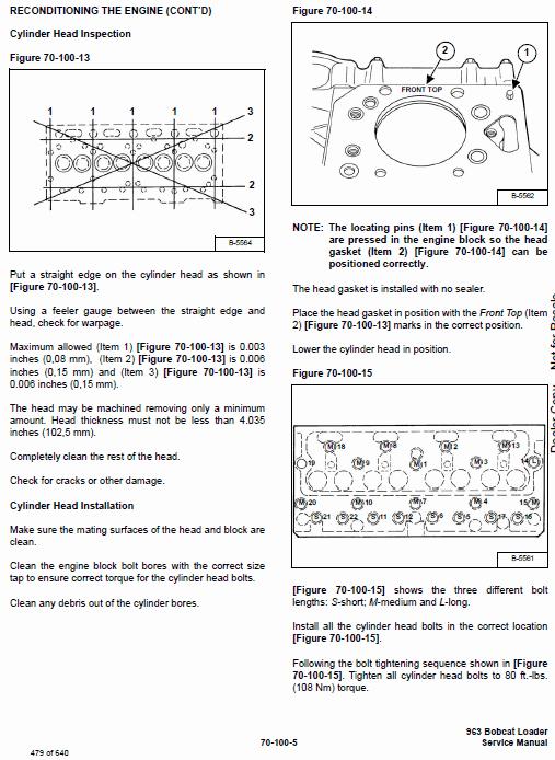 Bobcat 963 Skid-Steer Loader Service Manual