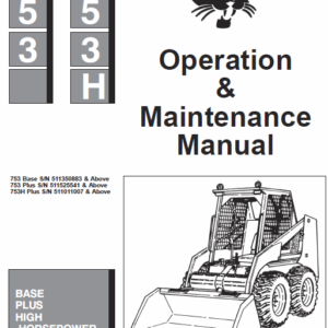 Bobcat 753 and 753HF Skid-Steer Loader Service Manual